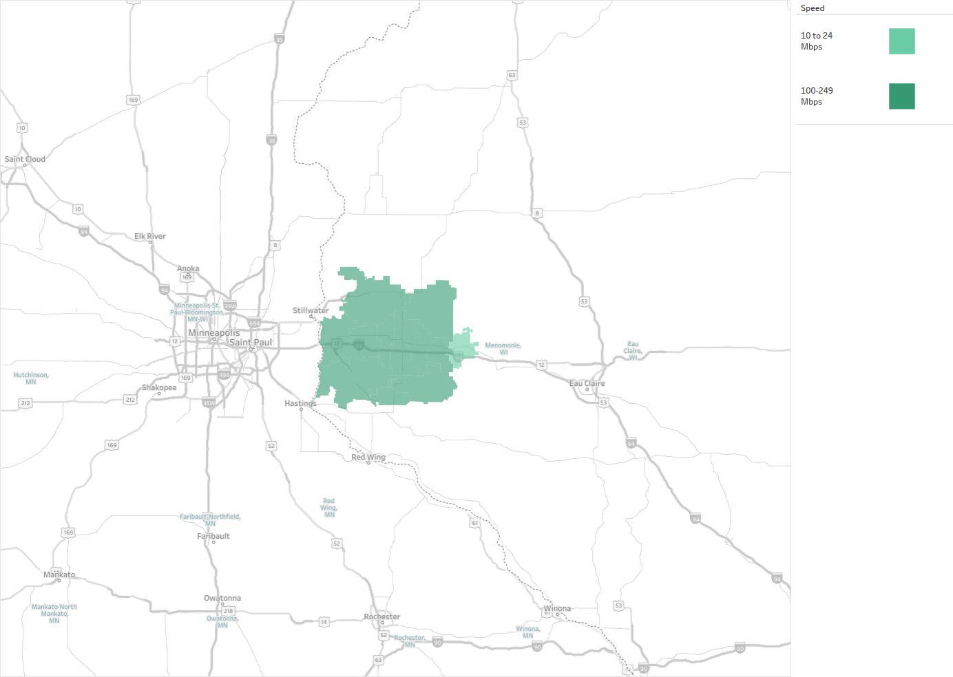 Baldwin Telecom Availability Areas Coverage Map Decision Data - Us internet coverage map minneapolis