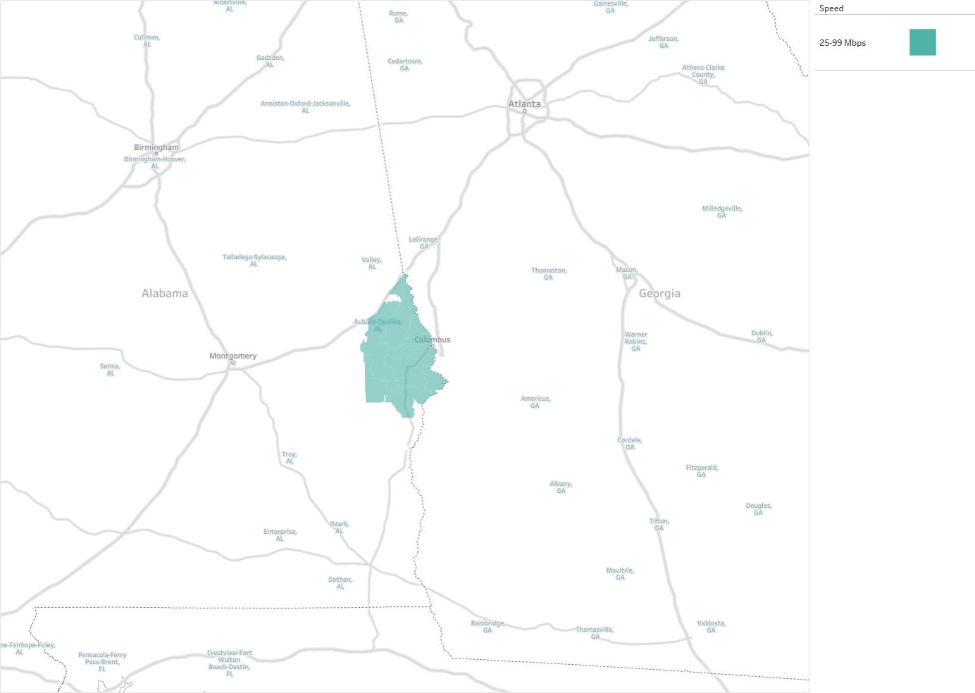 Cable TV Of East Alabama Availability Areas Coverage Map - Map alabama