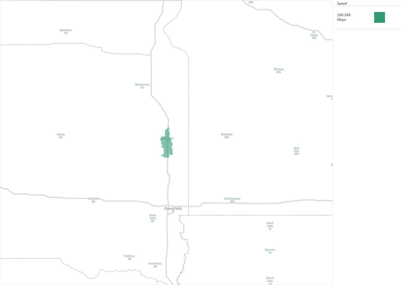 City of Brookings Telephone Fund Availability Areas Coverage Map
