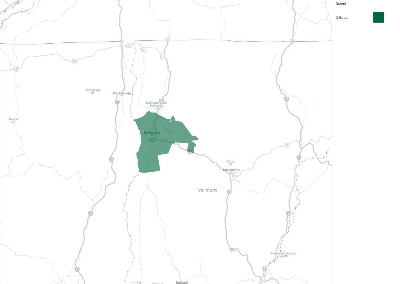 City of Burlington dba Burlington Telecom Availability Areas