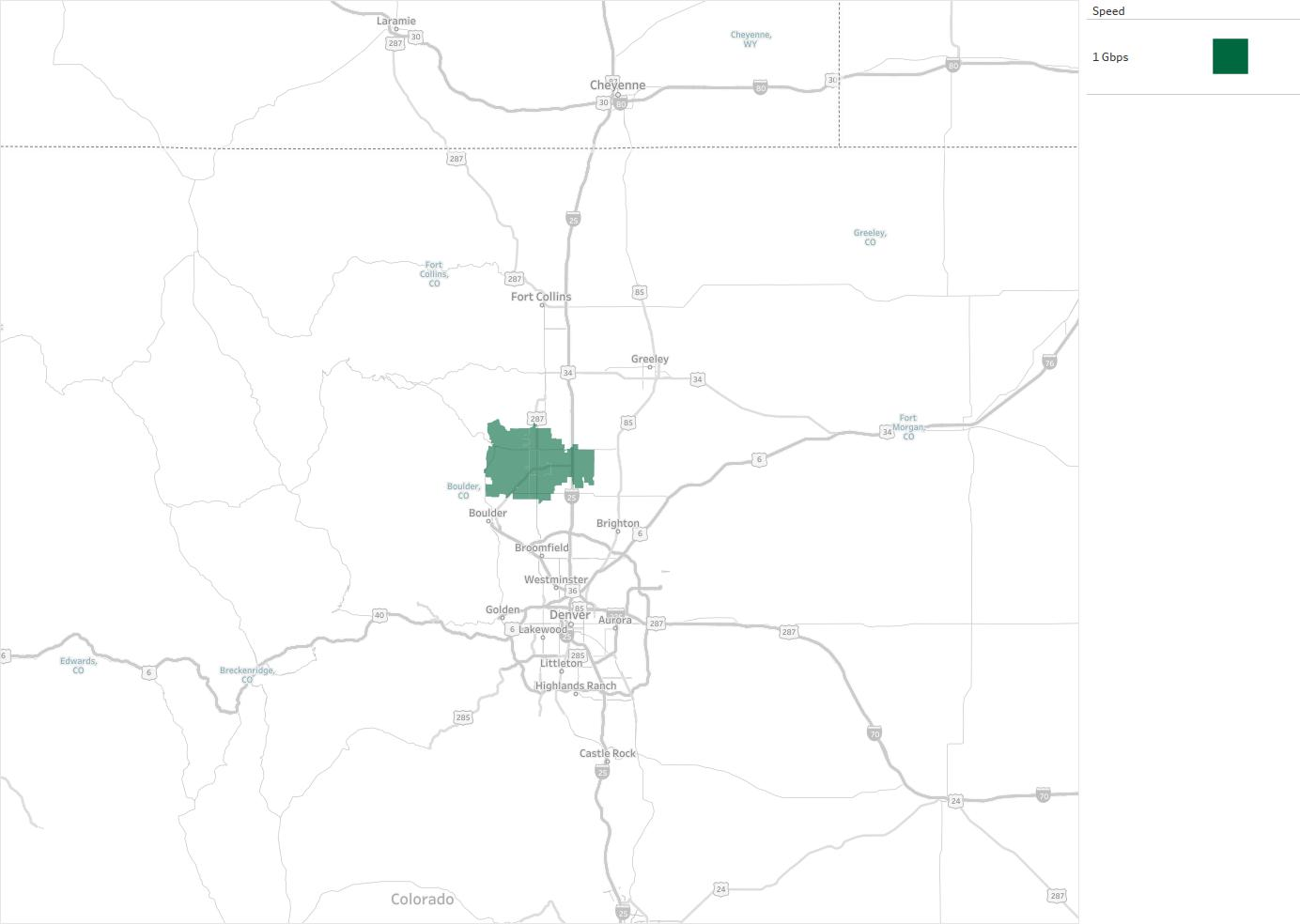 City of Longmont Availability Areas Coverage Map Decision Data