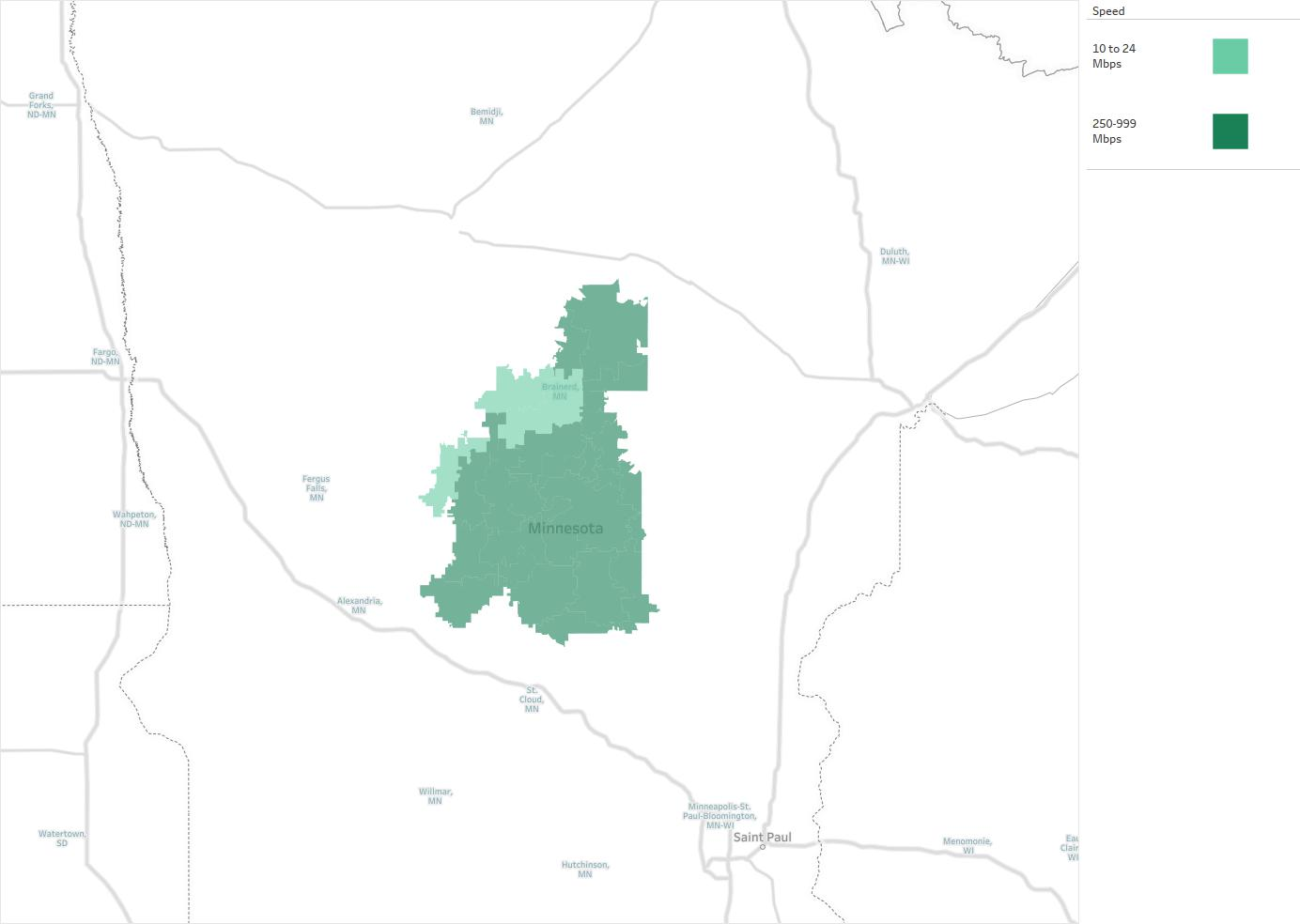 Consolidated Telecommunications Company Availability Areas - Us internet coverage map minneapolis