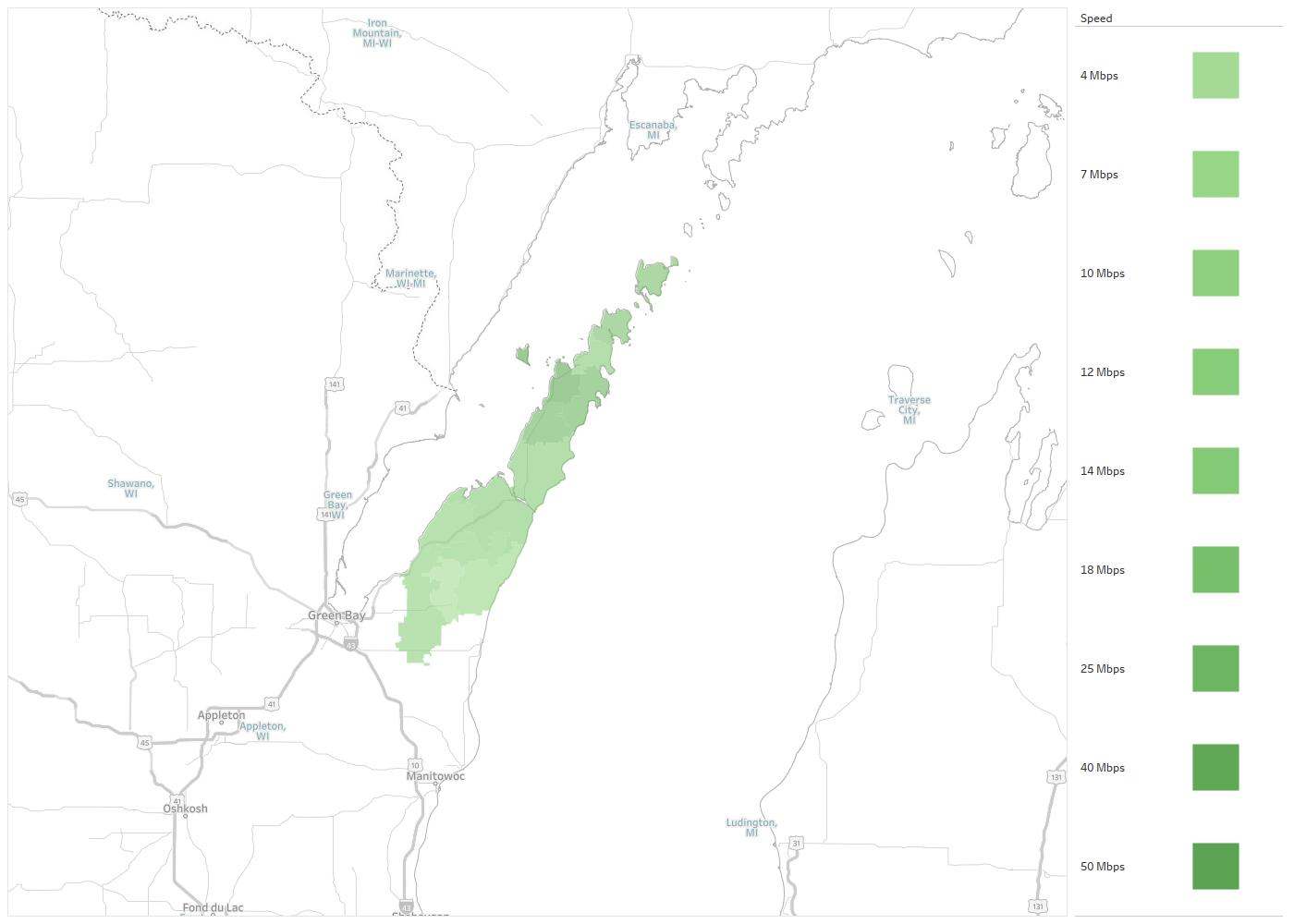 Door County Broadband Availability Areas & Coverage Map | Decision on