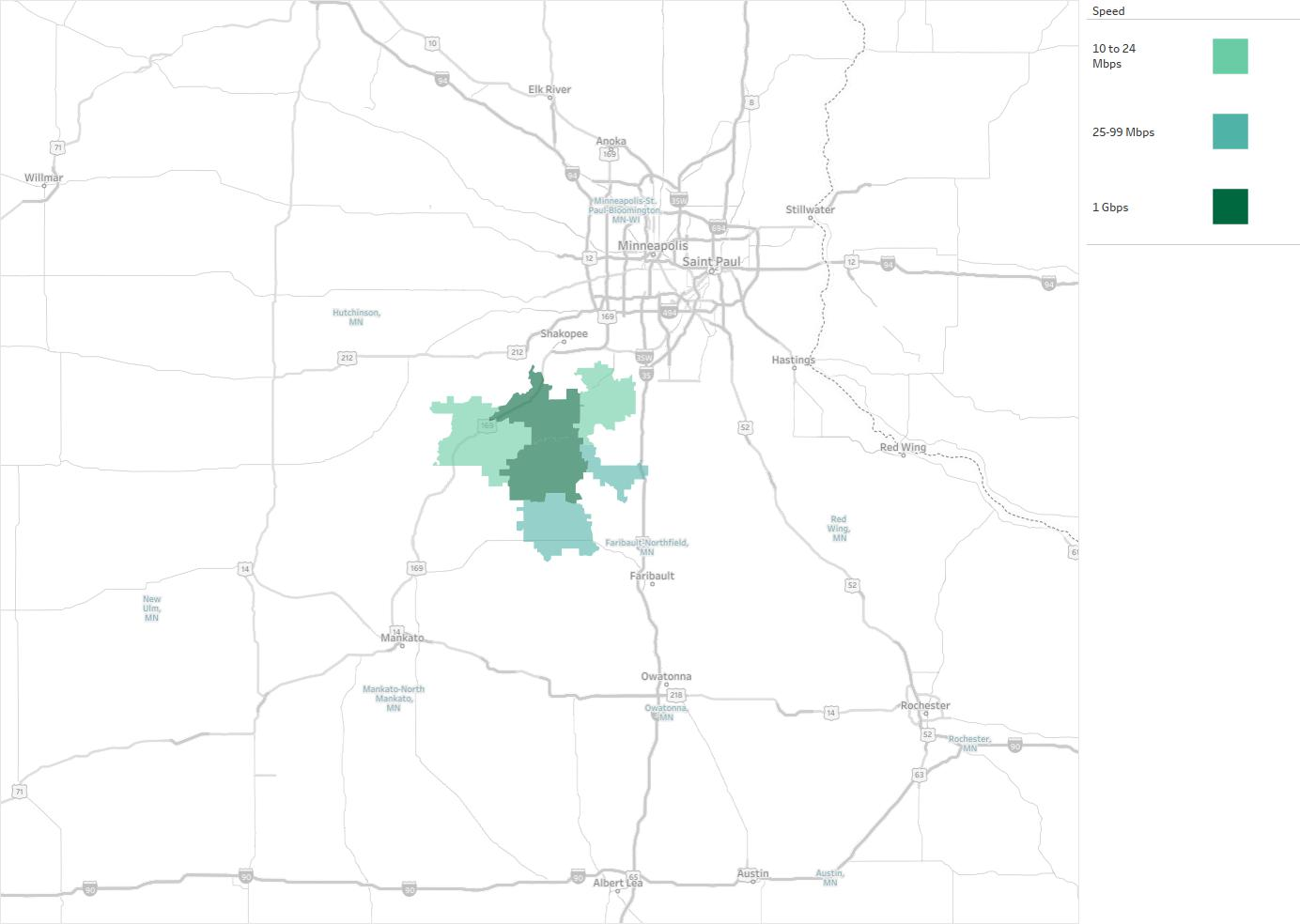 Eckles Telephone Company Availability Areas Coverage Map - Us internet coverage map minneapolis