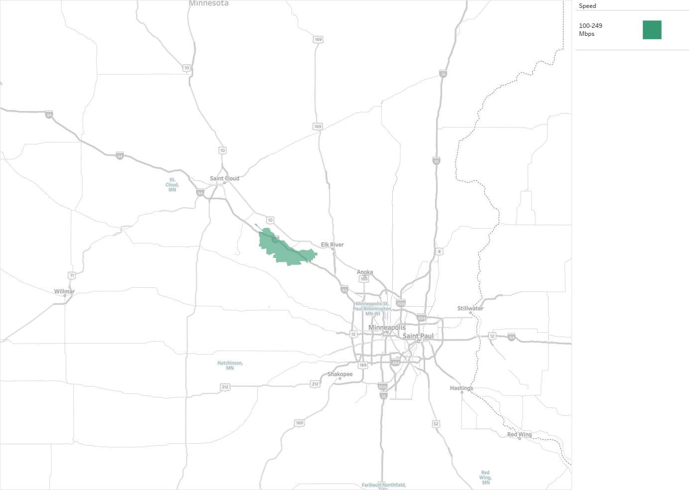FiberNet Availability Areas Coverage Map Decision Data - Us internet coverage map minneapolis