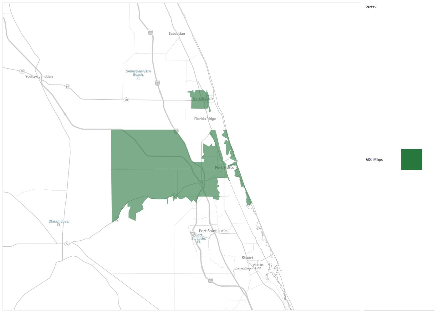 Map Of Fort Pierce Florida.Ft Pierce Utilities Authority Availability Areas Coverage Map