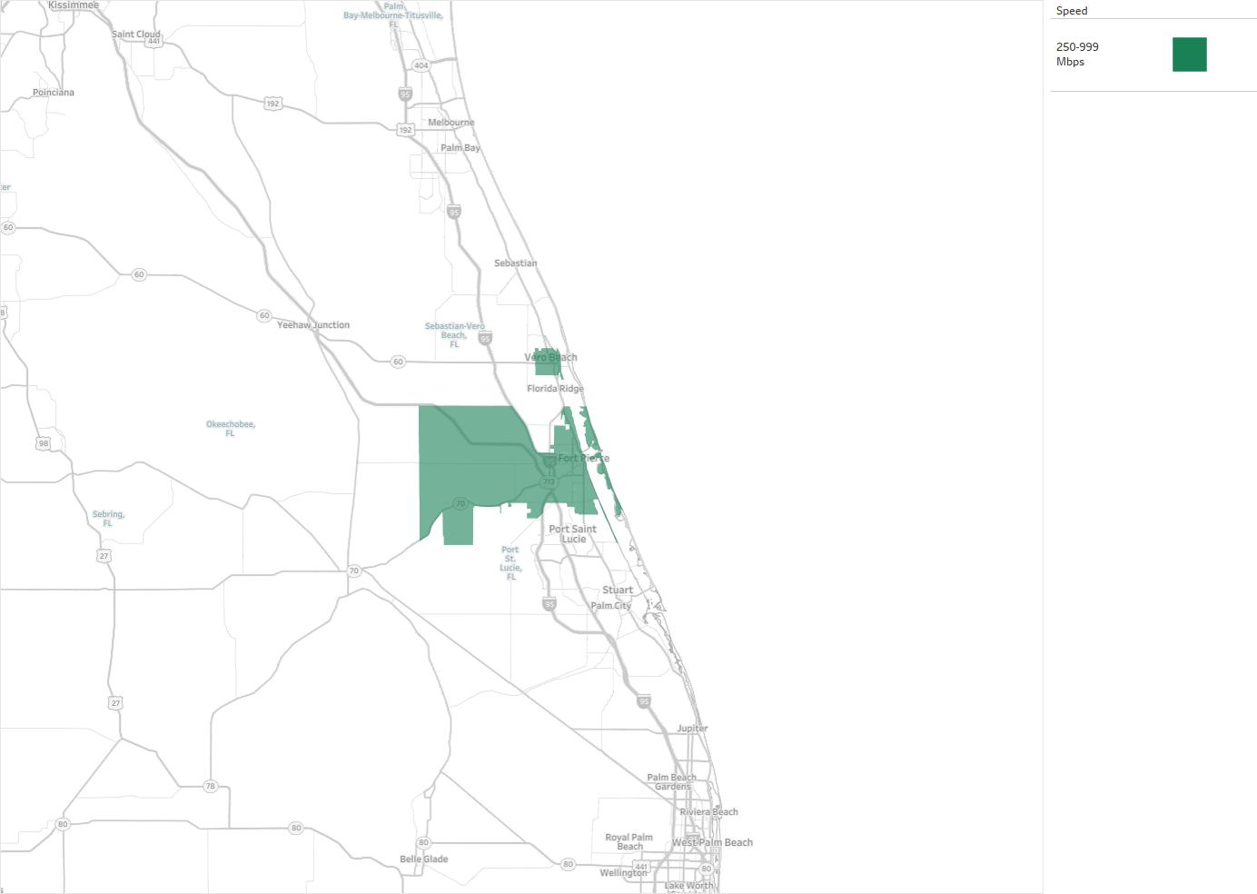 Ft Pierce Utilities Authority Availability Areas Coverage Map - Fort Pierce To Jupiter Map Us 1