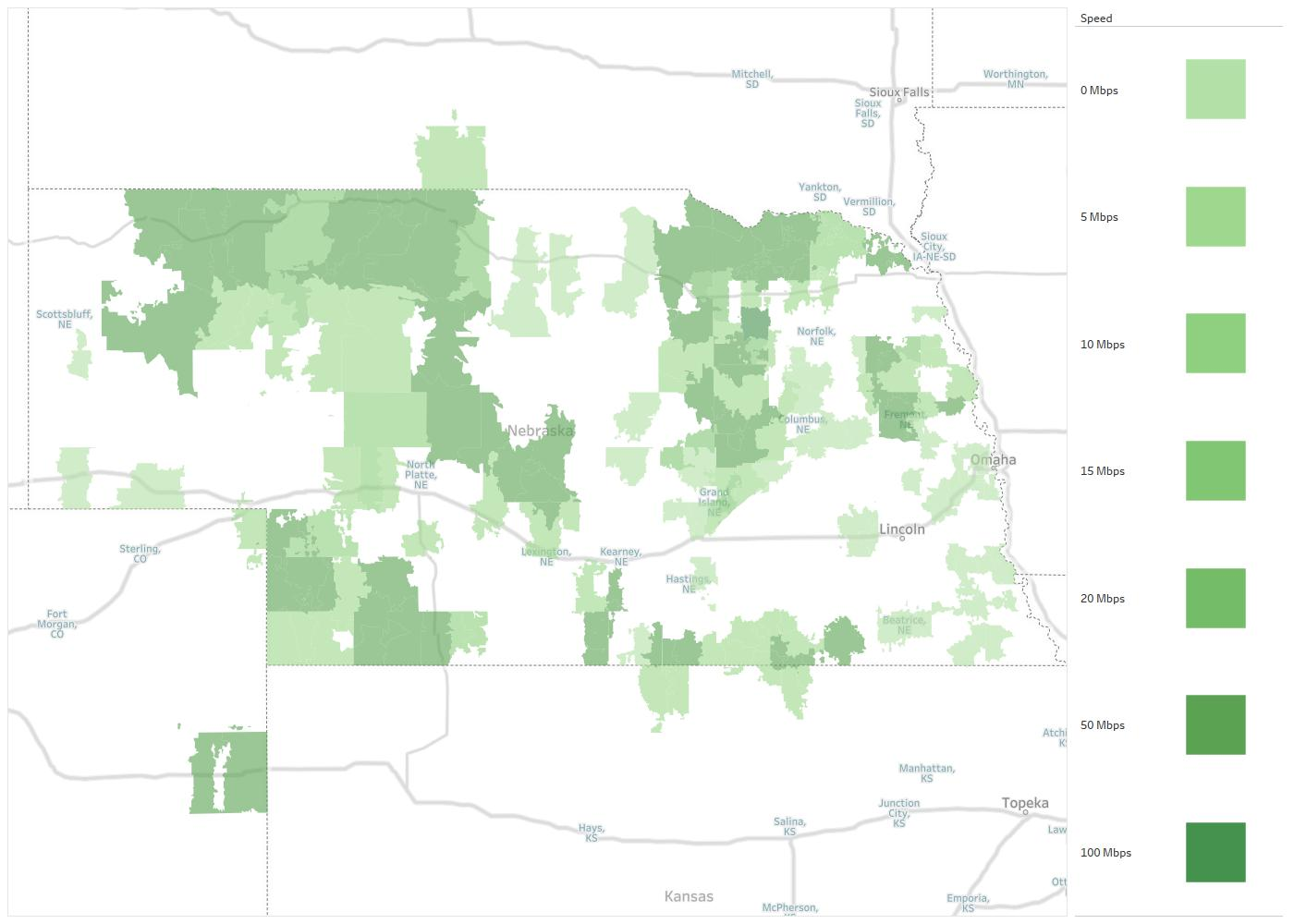 Great Plains Communications Availability Areas & Coverage Map ...