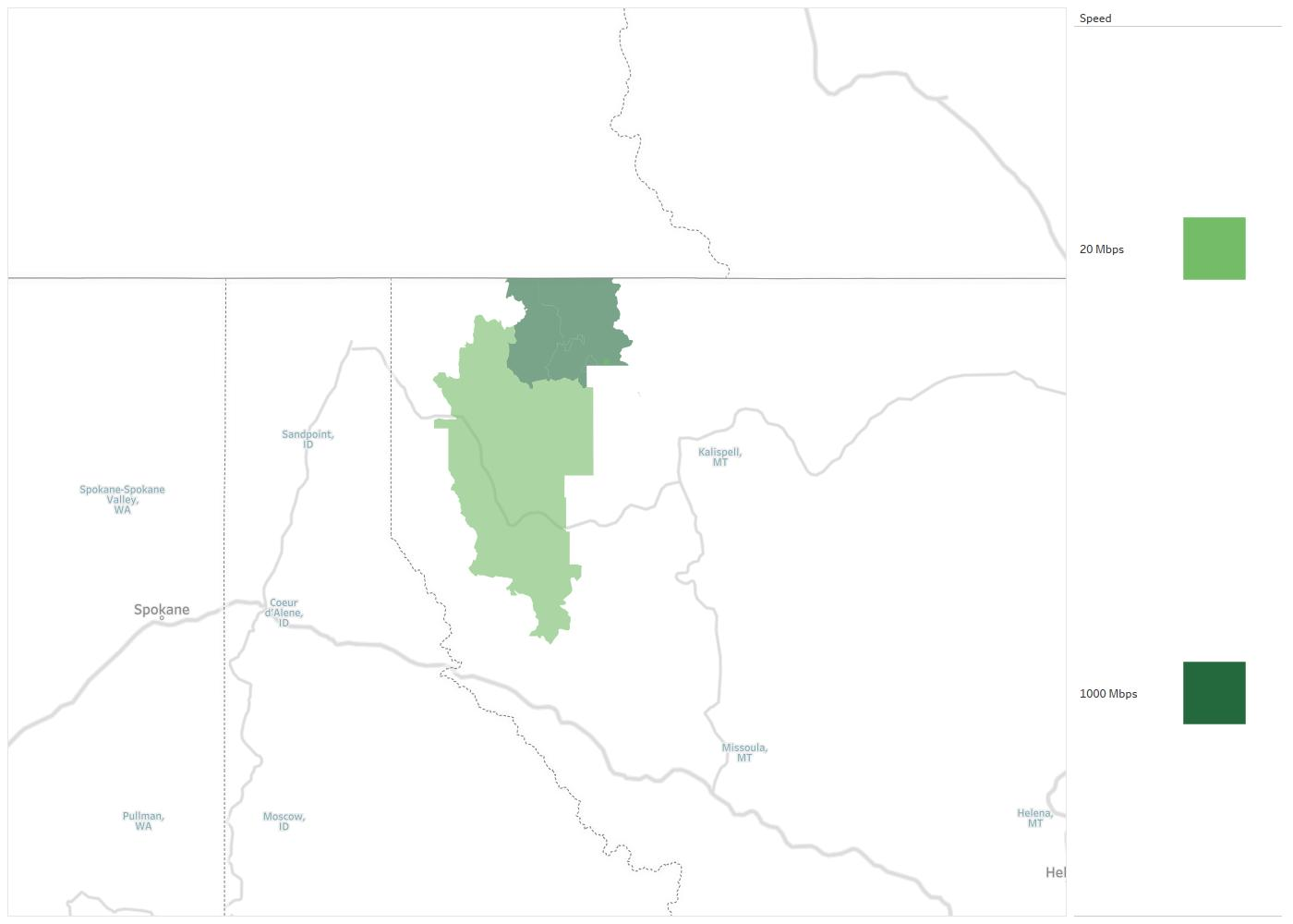 Kalispell Zip Code Map.Interbel Telephone Cooperative Availability Areas Coverage Map