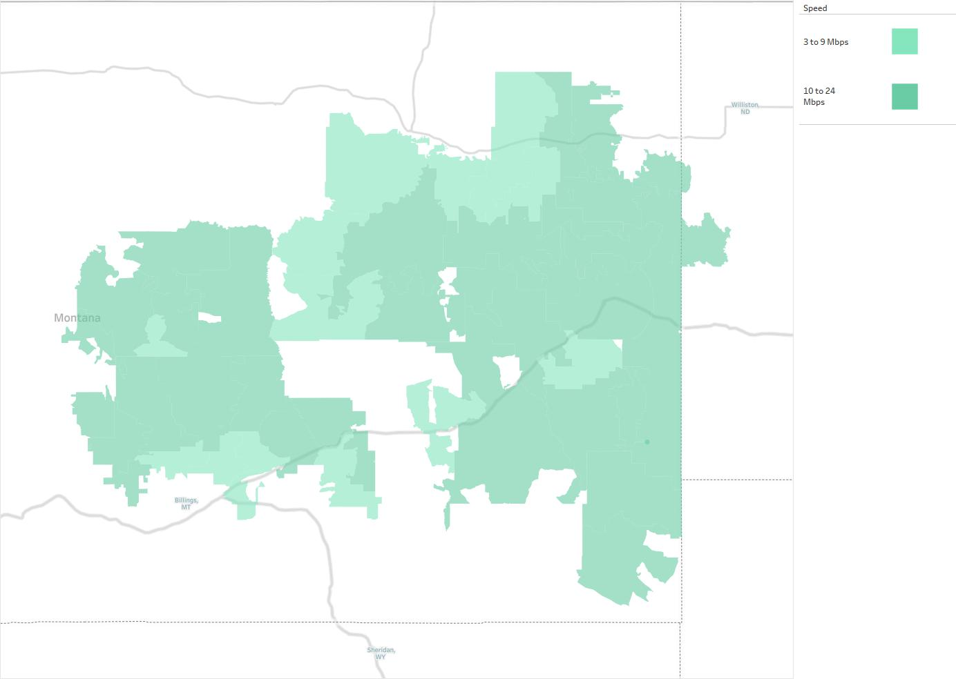 MidRivers Telephone Cooperative Availability Areas Coverage Map - Rivers of montana map
