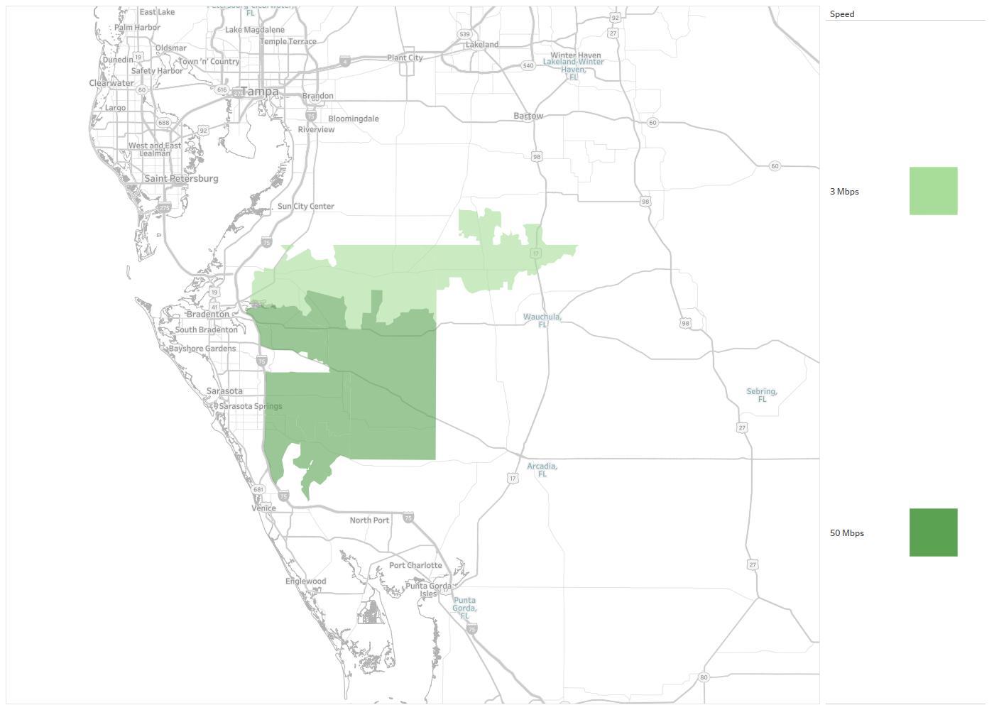 Myakka City Florida Map.Myakka Communications Availability Areas Coverage Map Decision Data