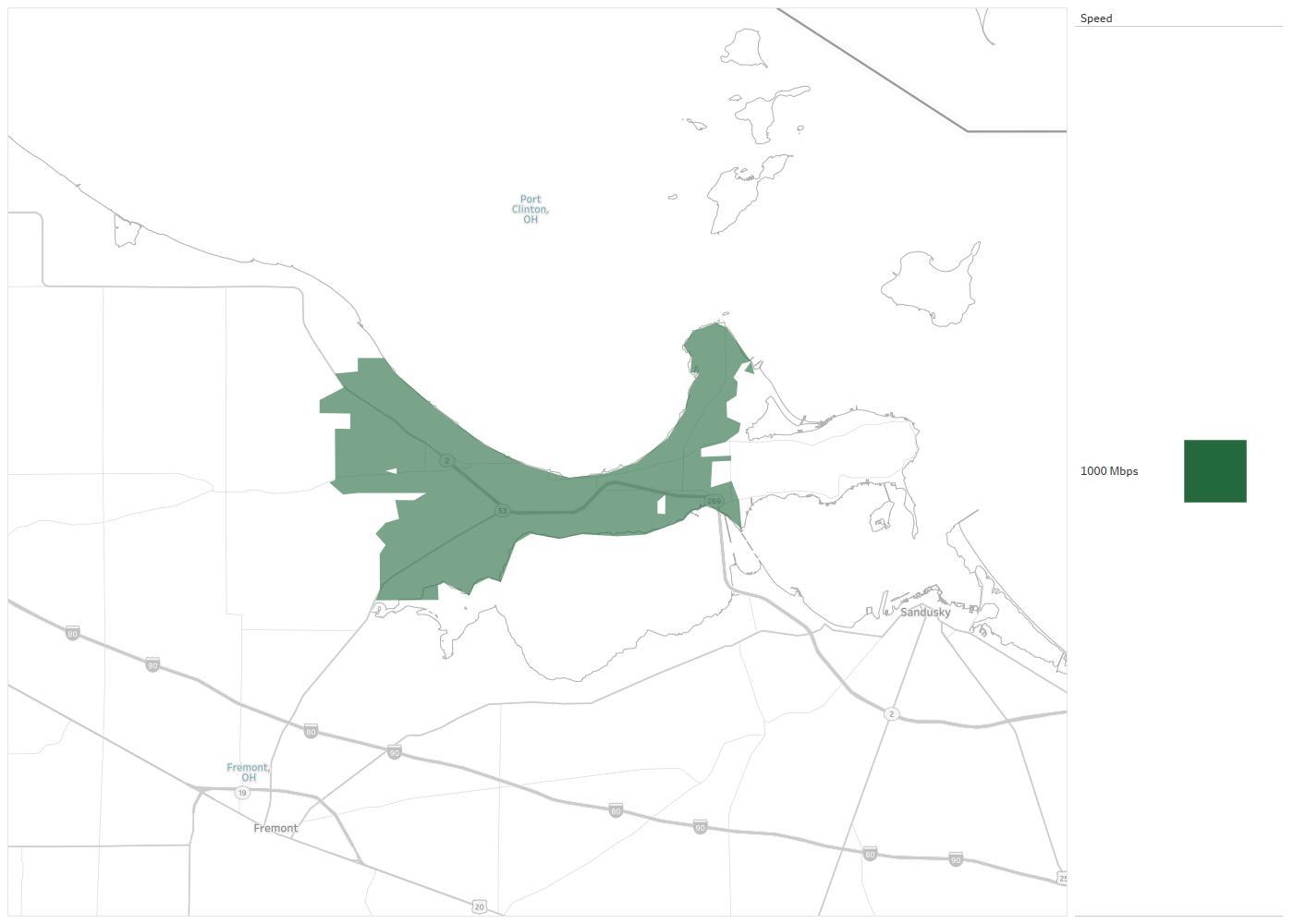 Ohio Telecom Availability Areas Coverage Map Decision Data