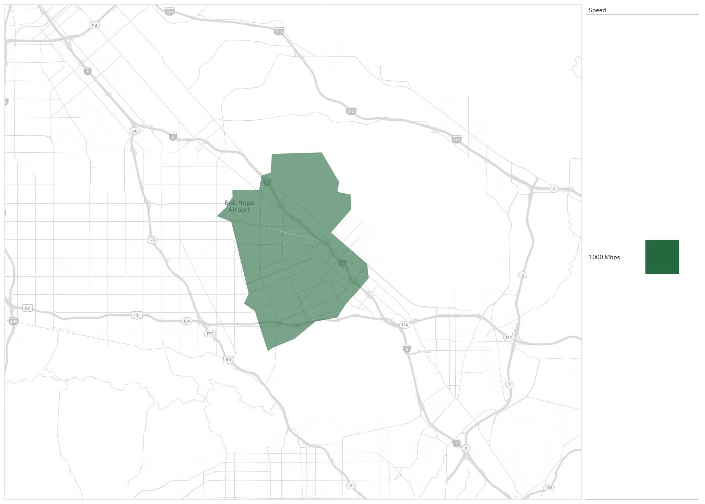 ONE Burbank Availability Areas & Coverage Map   Decision Data
