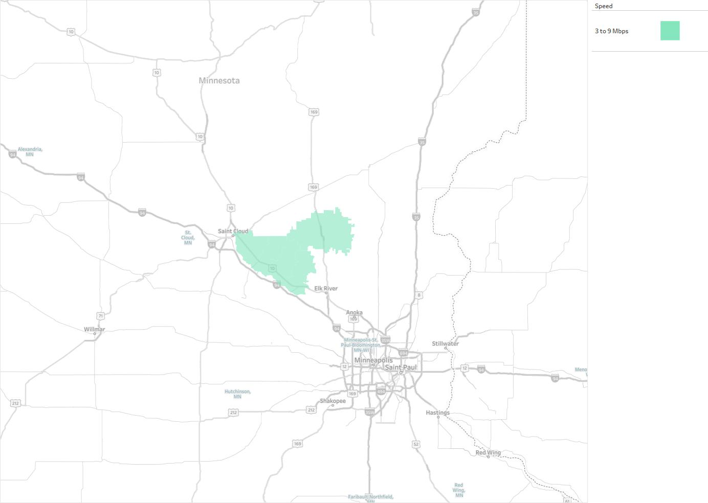 Palmer Wireless Availability Areas Coverage Map Decision Data - Us internet coverage map minneapolis