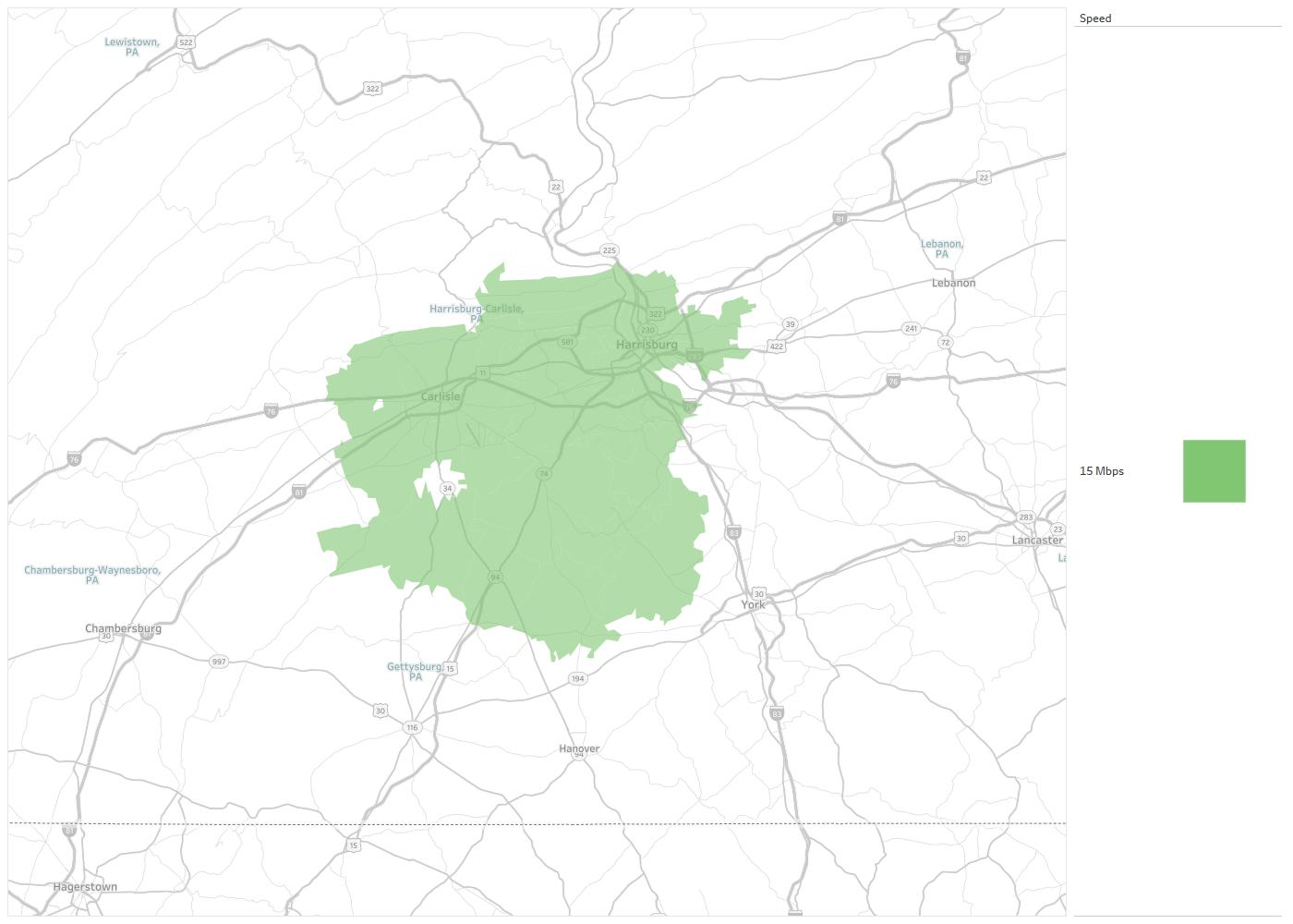 Gettysburg Zip Code Map.Pa Net Availability Areas Coverage Map Decision Data