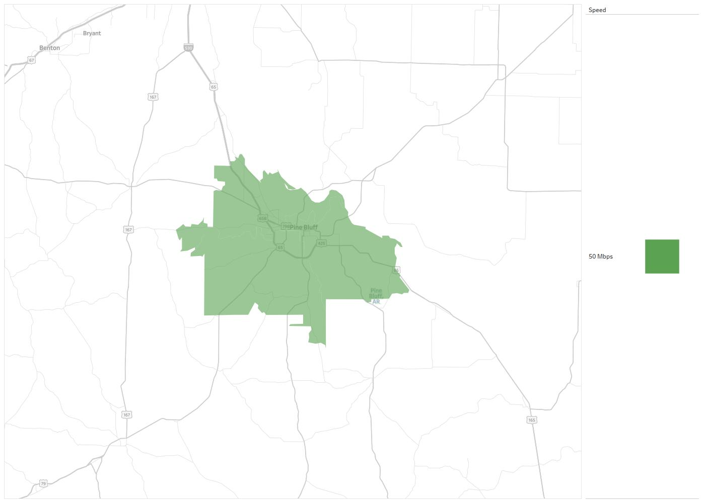 Pine Bluff Cable Tv Availability Areas Coverage Map Decision Data