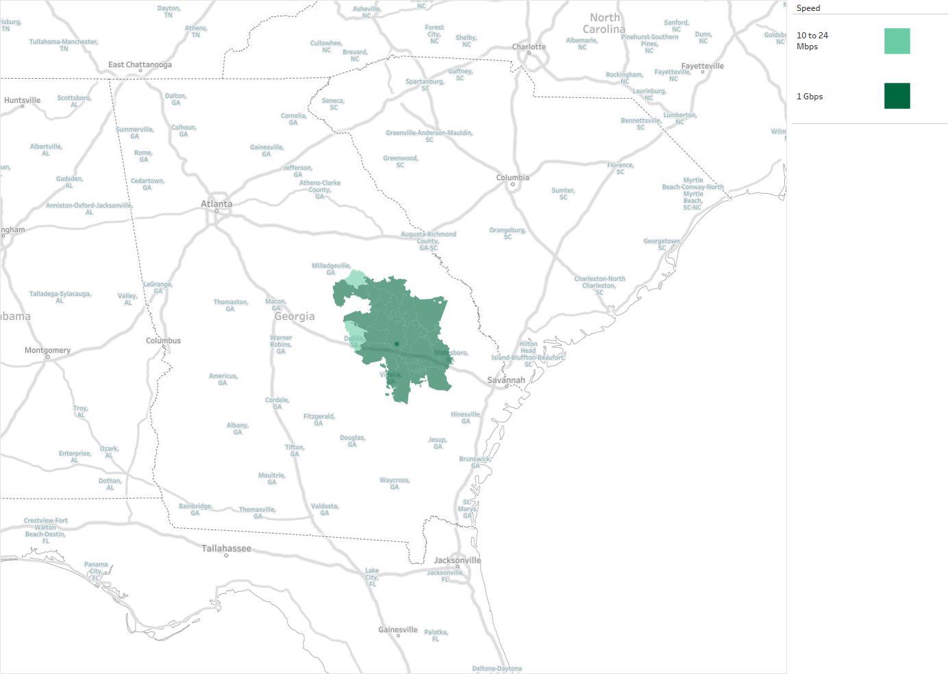 pineland telephone cooperative availability areas