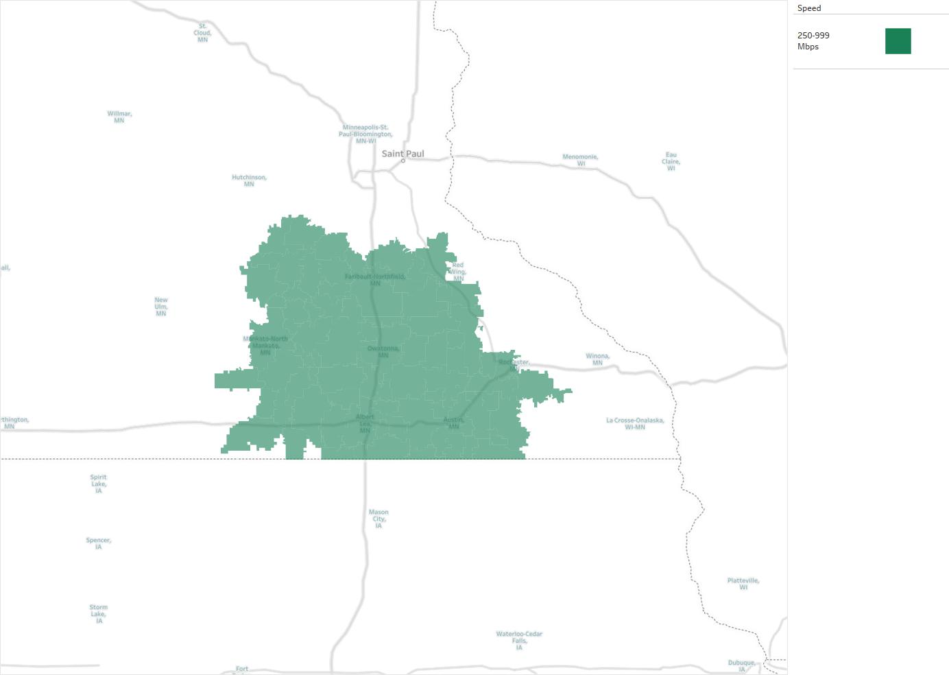 Radio Link Internet Availability Areas Coverage Map Decision Data - Us internet coverage map minneapolis