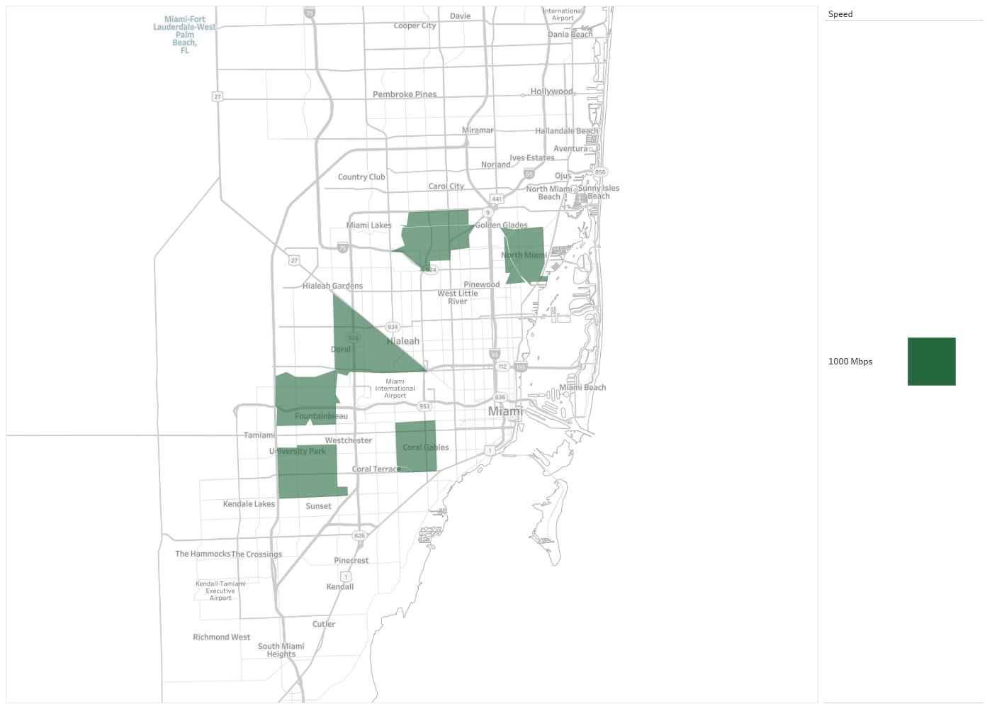 Coral Gables Map Florida.South Florida Digital Alliance Availability Areas Coverage Map
