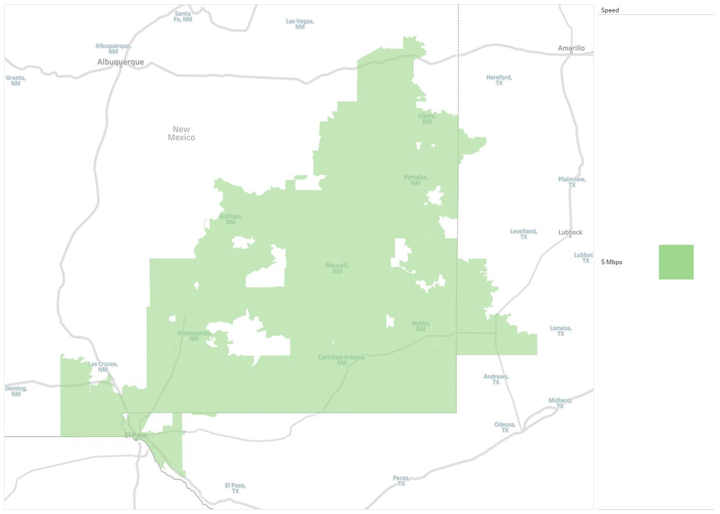 Southwestern Wireless Availability Areas Coverage Map Decision Data