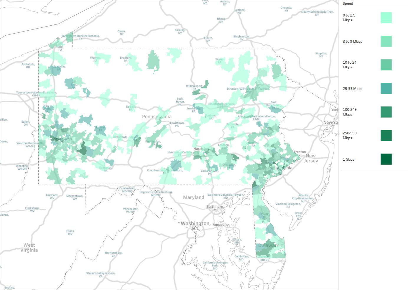 US LEC Of Pennsylvania Availability Areas Coverage Map - Map of us pennsylvania