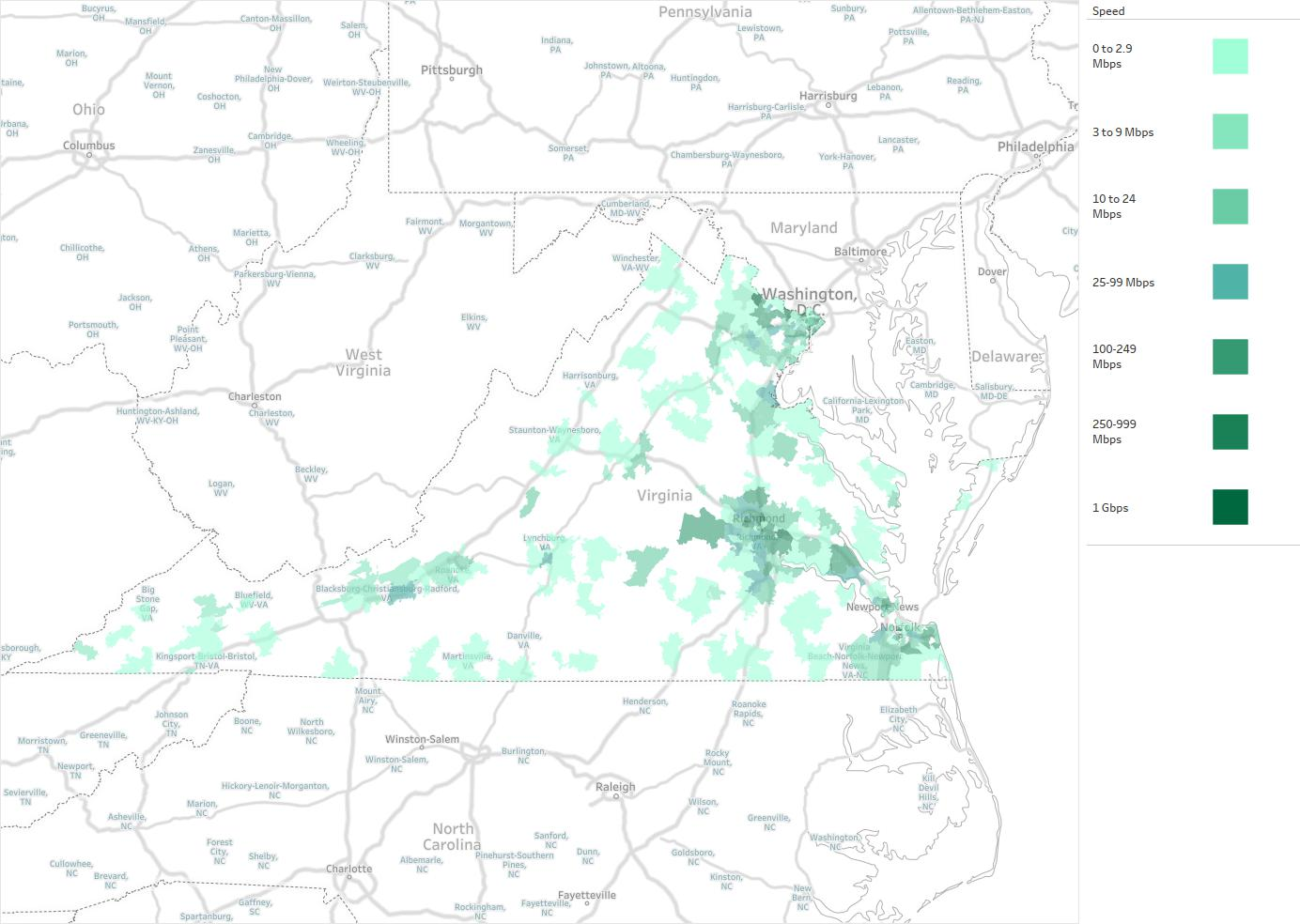 US LEC Of Virginia Availability Areas Coverage Map Decision Data - Virginia on us map