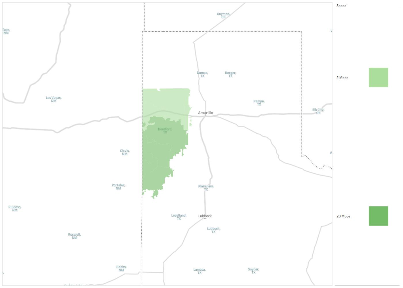 West Texas Rural Telephone Coop Availability Areas & Coverage Map ...